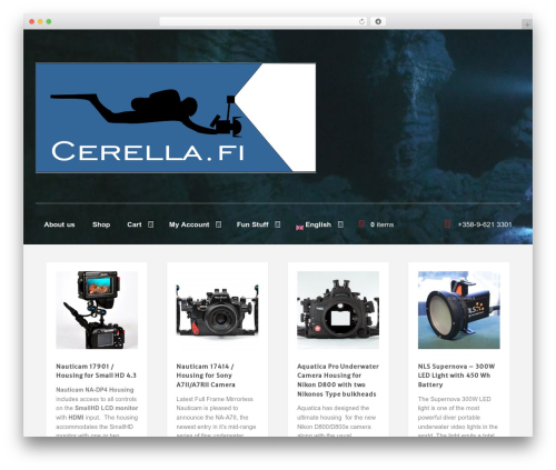 Memorable template WordPress - cerella.net