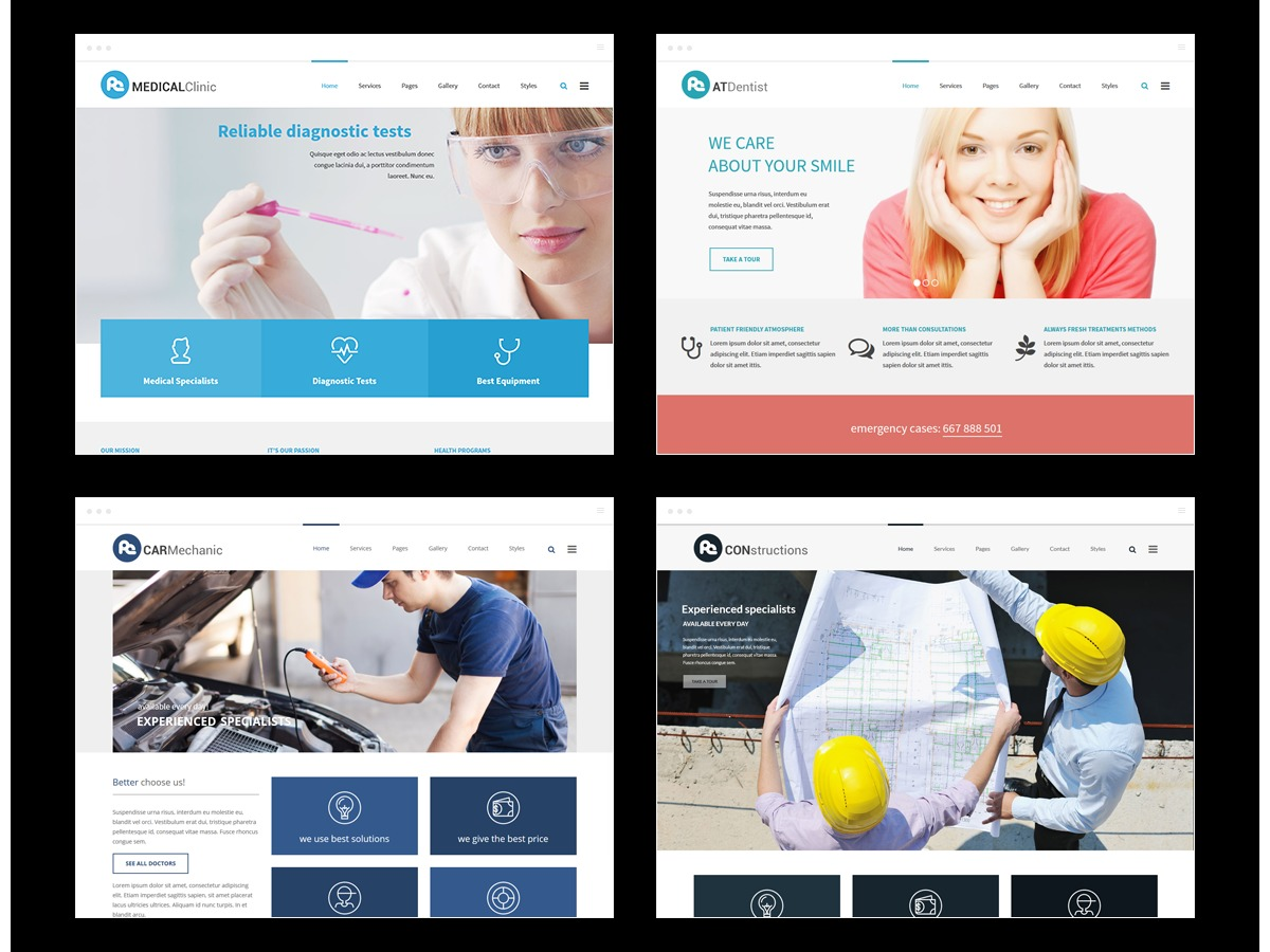 PE Services company WordPress theme