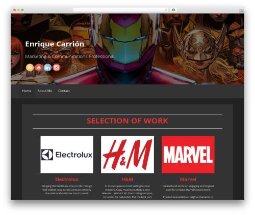 Primer WordPress template free - enriquecarrion.com