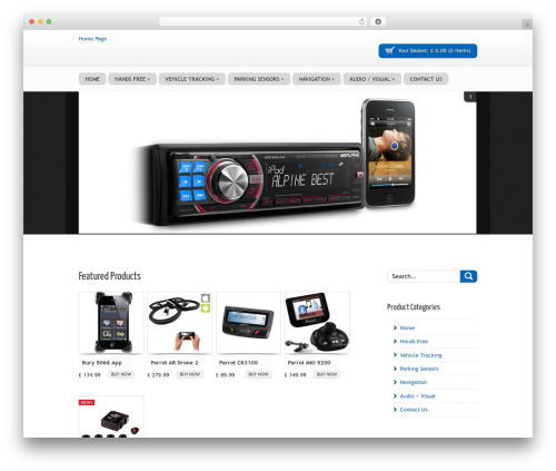 SOFA SuppaStore WordPress shop theme - chelmercarsound.com/welcome-with-sidebar-products-in-grid