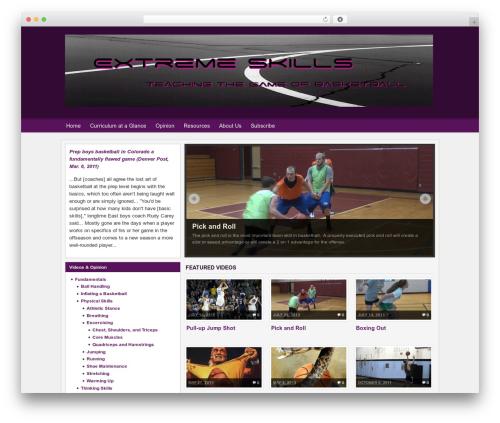 WordPress theme Arras - extremebballskills.com