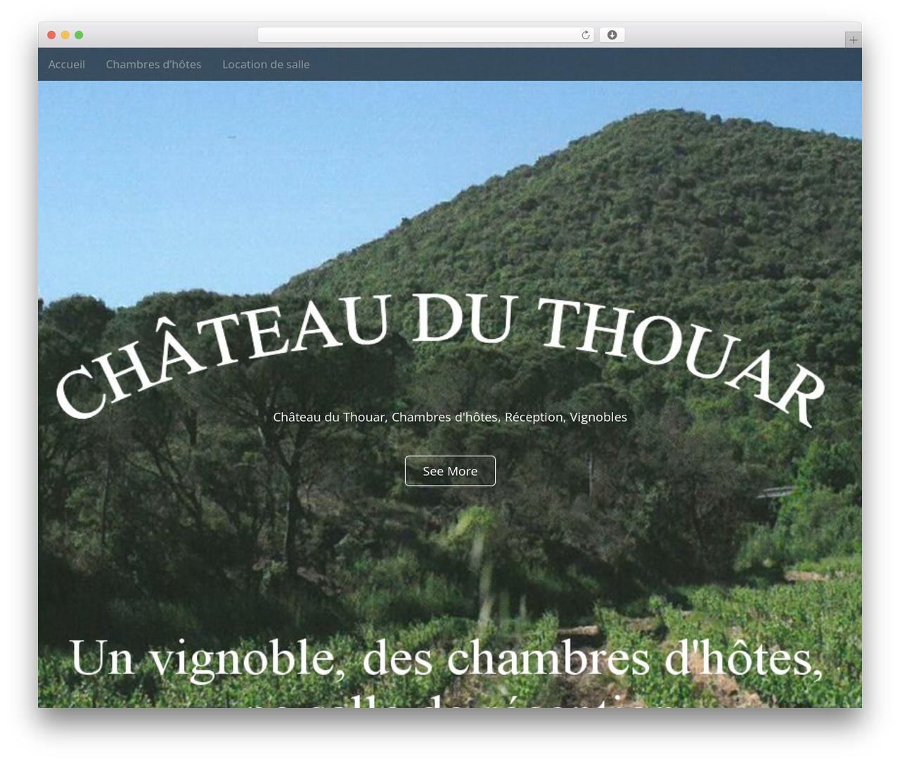 Arcade Basic free WordPress theme - chateauduthouar.fr