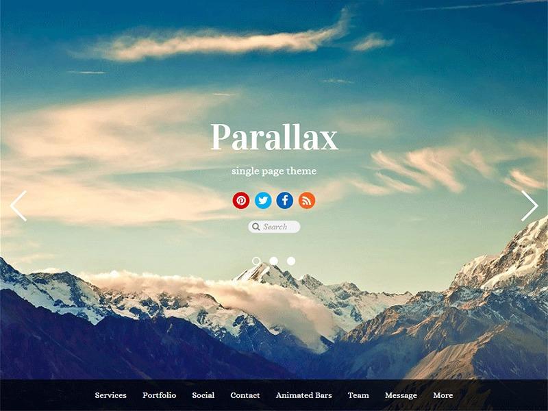 Best WordPress template Parallax