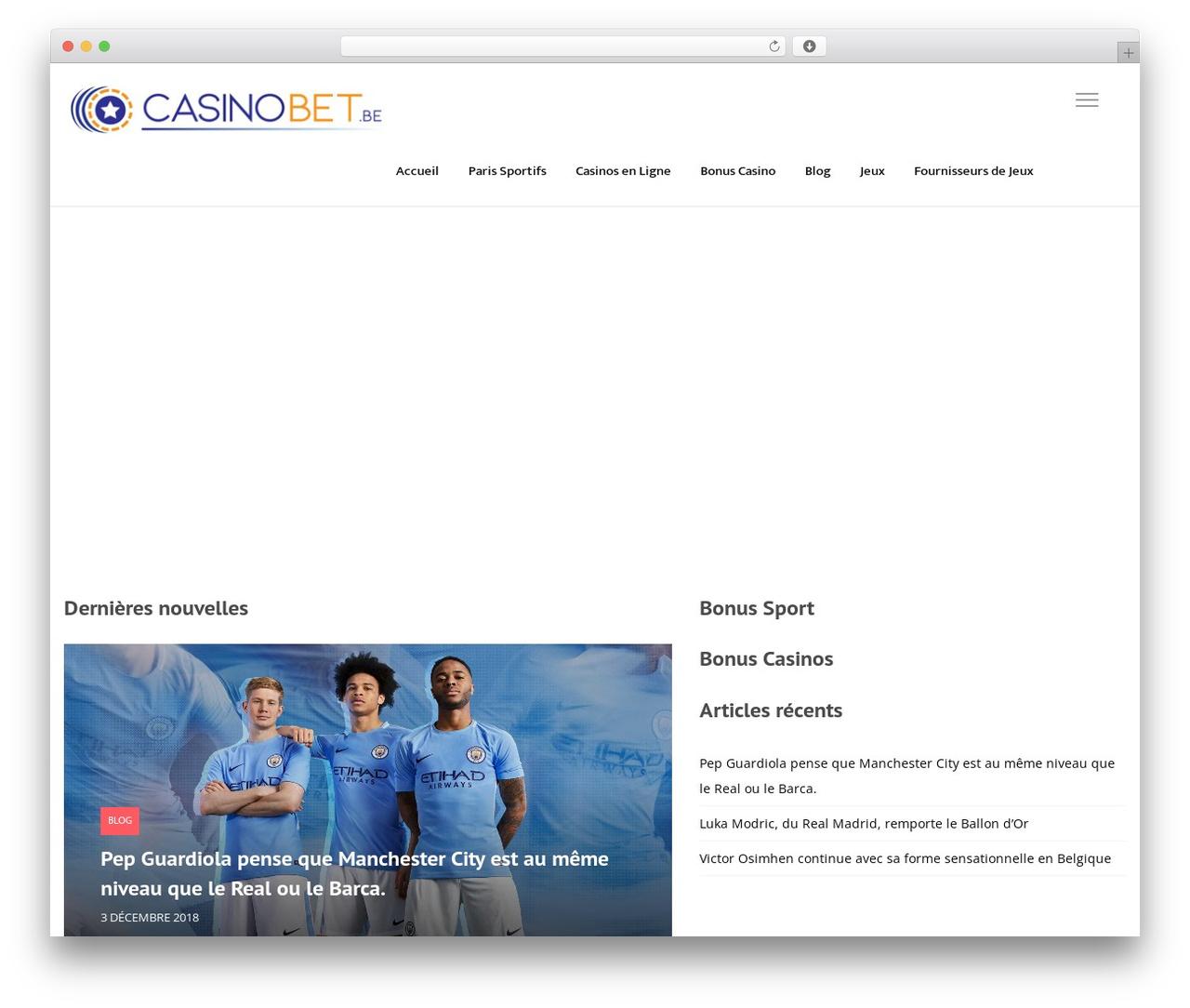 Best WordPress theme VegasHero Child Theme - casinobet.be