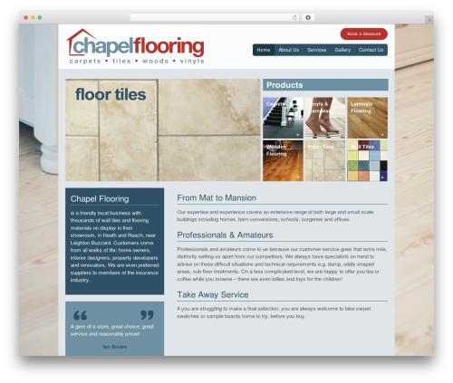 Canvas WordPress theme - chapelflooring.co.uk