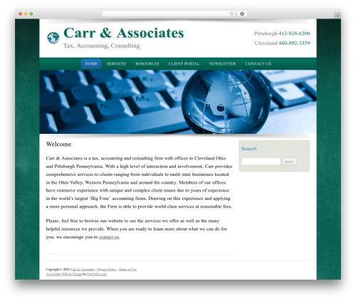 Customized business WordPress theme - carrassociates.com