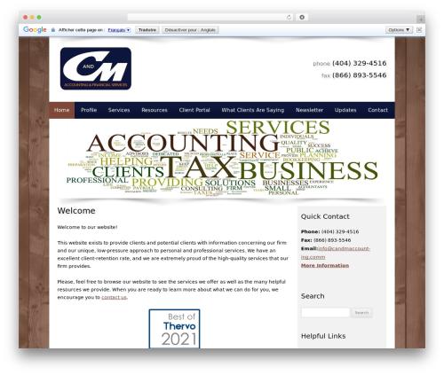 Customized company WordPress theme - candmaccounting.com