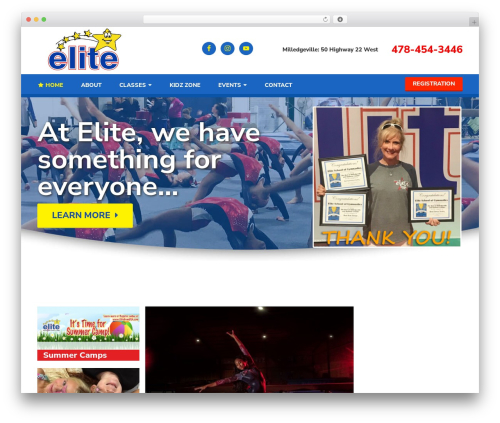 Elite gym WordPress theme - elitegymusa.com