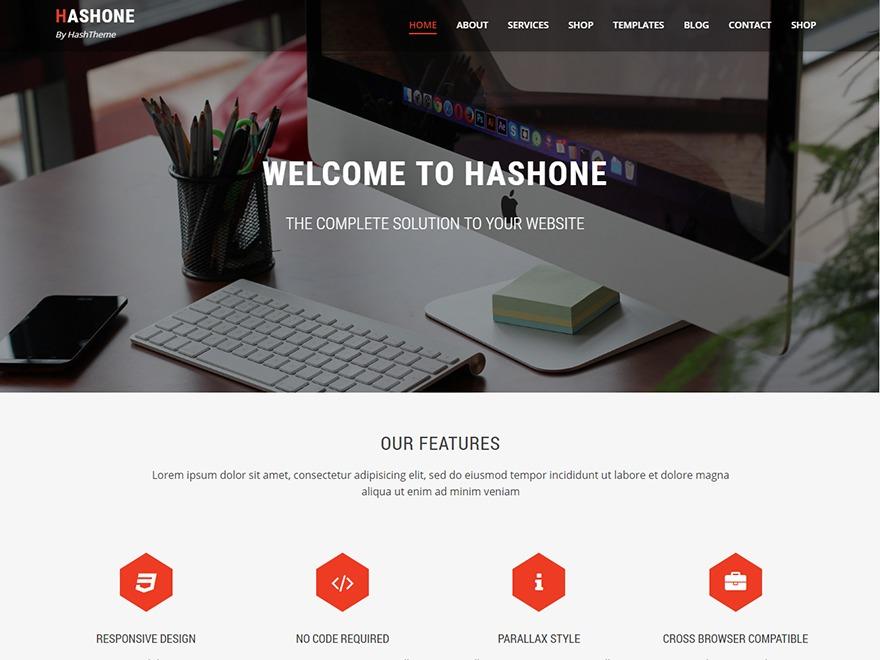 HashOne Child WordPress photo theme