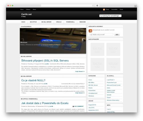 Techified WordPress theme - certik.net