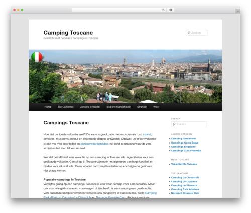 Twenty Eleven best free WordPress theme - campingtoscane.info