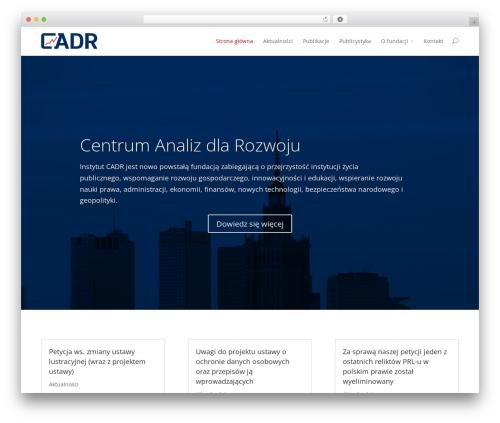 WordPress theme Divi - cadr.eu