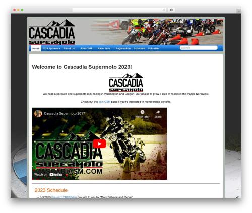 WordPress website template Suffusion - cascadiasm.com