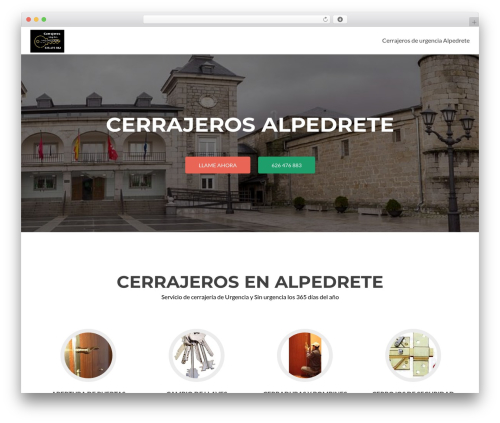Zerif Lite WordPress template free - cerrajerosalpedrete.com
