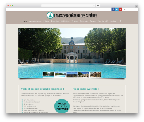 Best WordPress template 3clicks Theme - chateaudesgipieres.nl