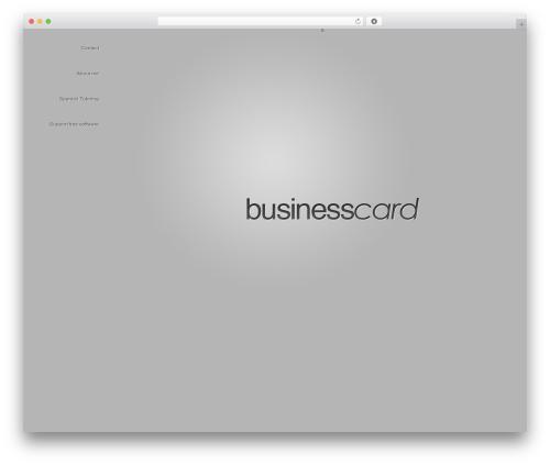 BusinessCard template WordPress - carmengomez.es
