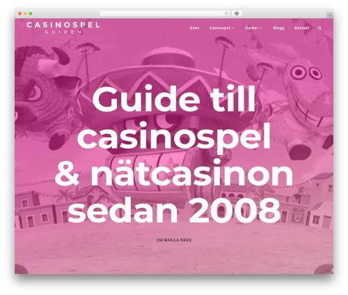 Capri WordPress theme - casinospelguiden.com