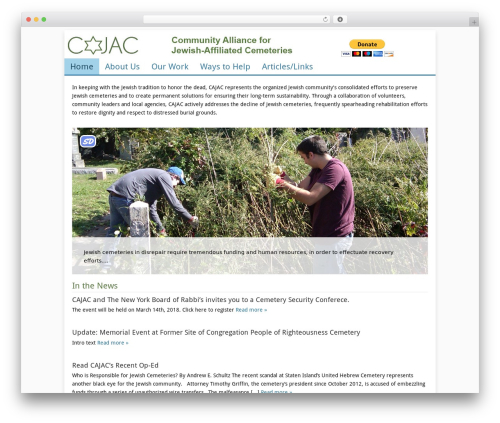 Catalyst WordPress page template - cajac.us