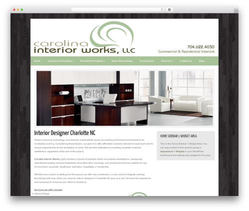 Catalyst WordPress website template - carolinainteriorworks.com