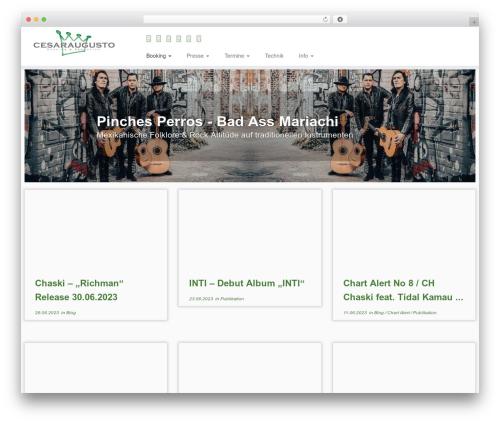 Customizr free WordPress theme - cesaraugusto.com