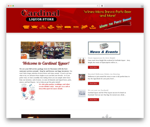 Focus best WordPress theme - cardinalsliquor.com