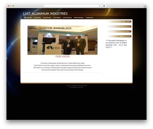 Glowing Amber premium WordPress theme - cai.ae