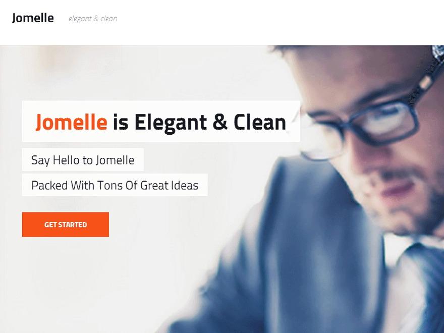 Jomelle Child WordPress website template