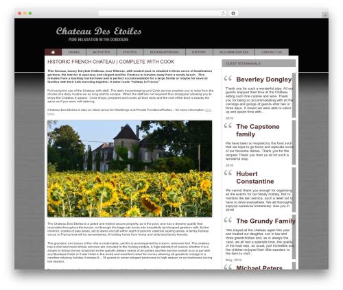 Modular top WordPress theme - chateaudesetoiles.com