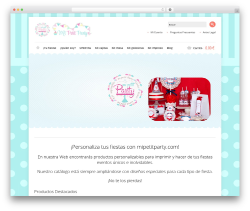 Shoppica theme WordPress - es.mipetitparty.com