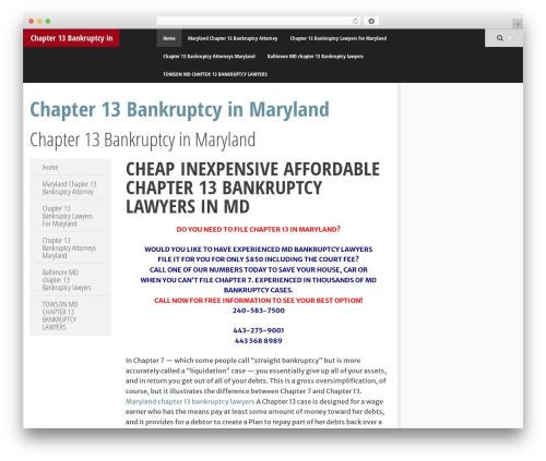 SmartAdapt best free WordPress theme - chapter13bankruptcymaryland.net
