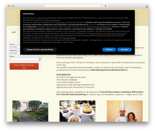 Template WordPress Klasik - californiahotel.it