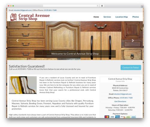WordPress template Ajusta - centralavenuestripshop.net