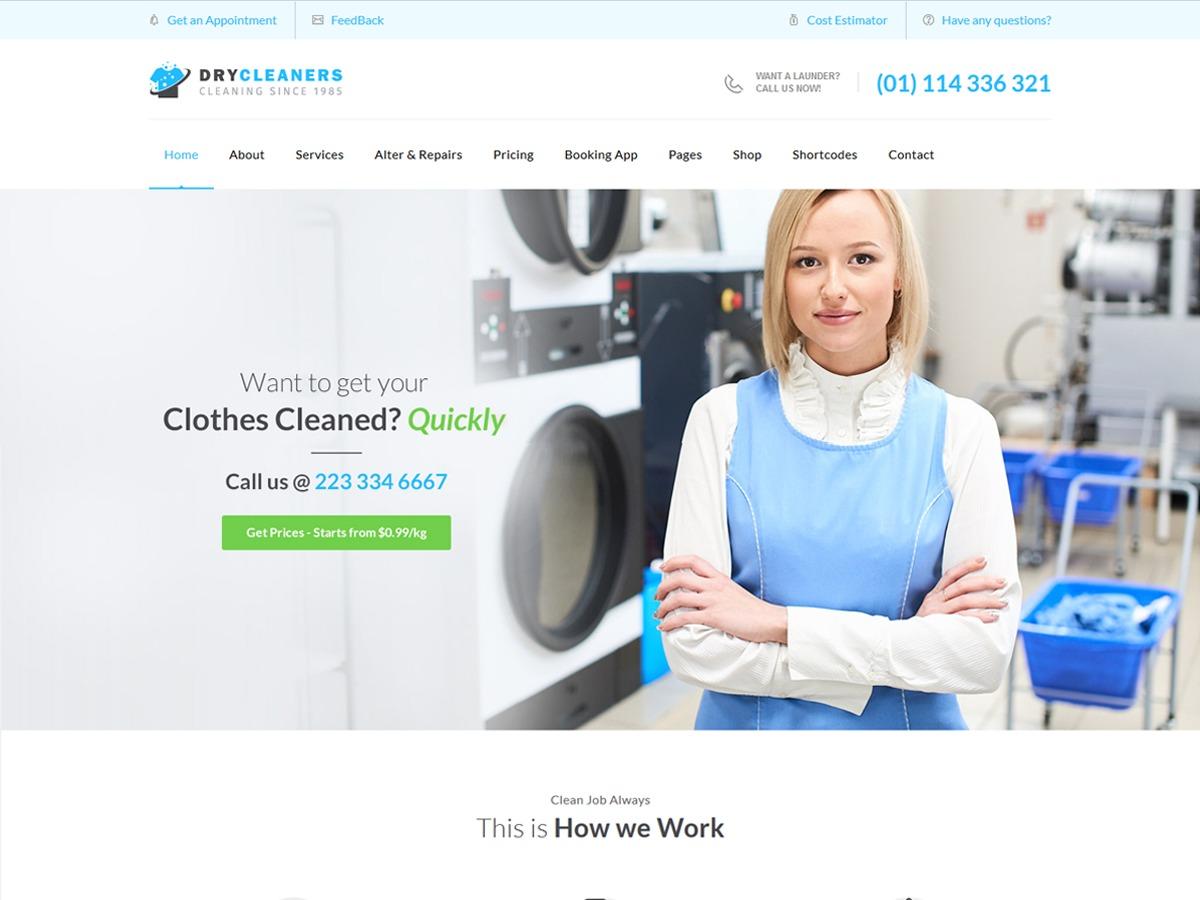 WordPress theme Dry Cleaning