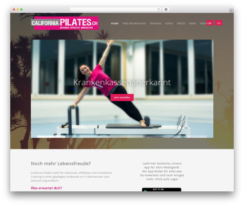 Workout theme WordPress - californiapilates.ch/de