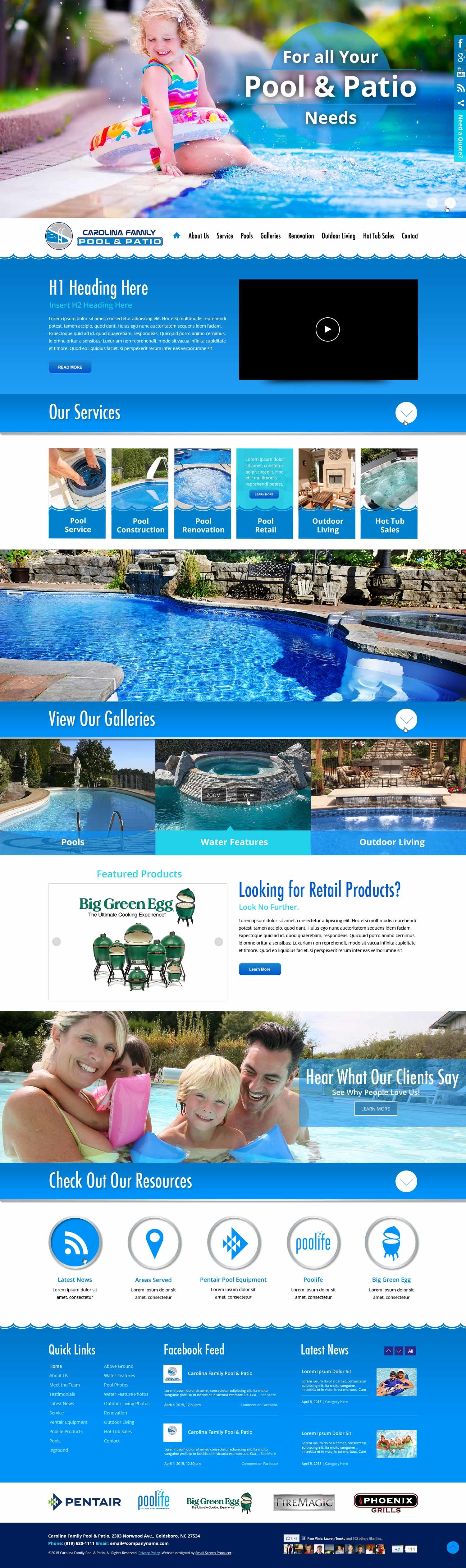 Best WordPress theme Carolina Family