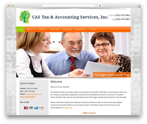 Customized theme WordPress - castaxmn.com