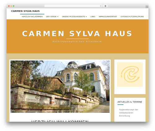 Nisarg WordPress theme - carmensylvahaus.de/homepage
