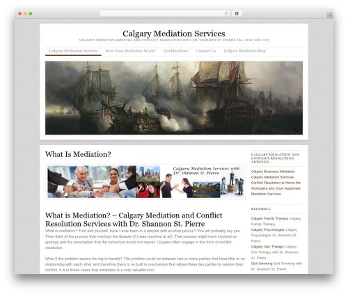 Skirmish WordPress website template - calgarymediation.ca