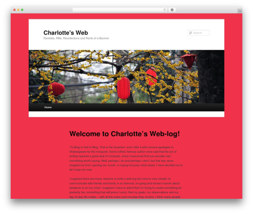 Twenty Eleven WordPress theme design - charlottes-web.net