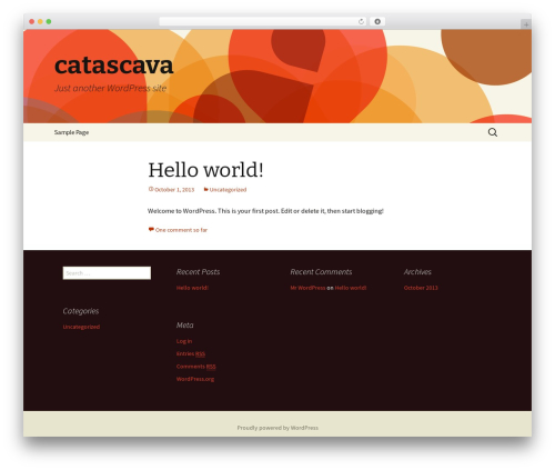Twenty Thirteen template WordPress free - catascava.com
