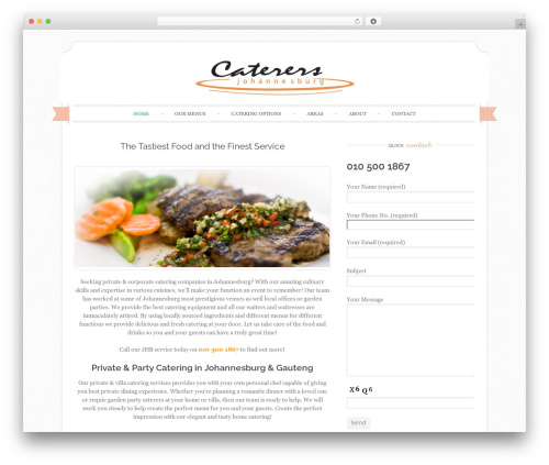Best WordPress template Sugar and Spice - caterersjohannesburg.com