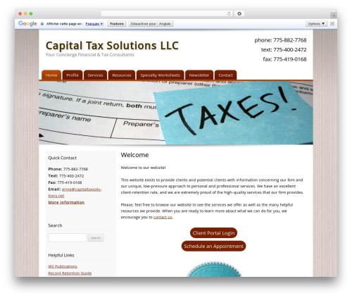 Customized WordPress theme - capitaltaxsolutions.net