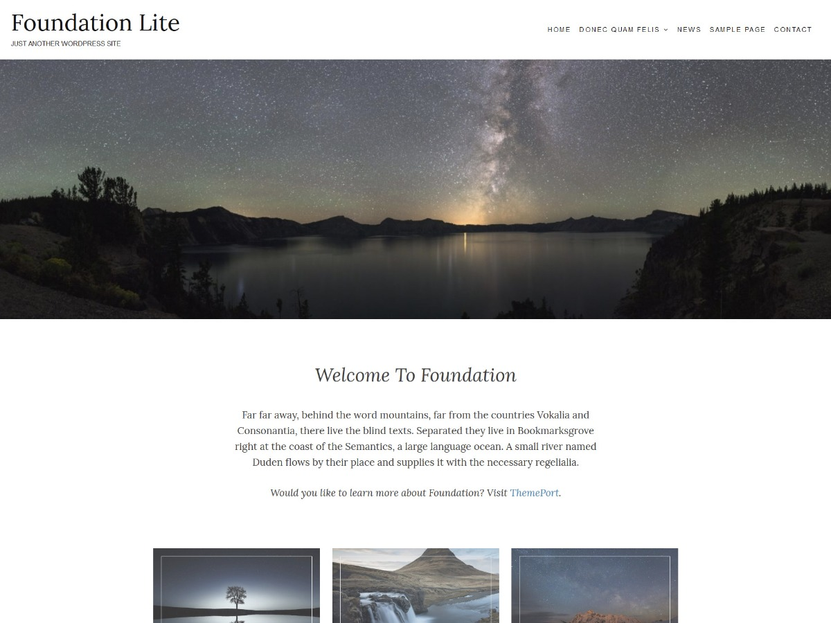 Foundation Lite business WordPress theme