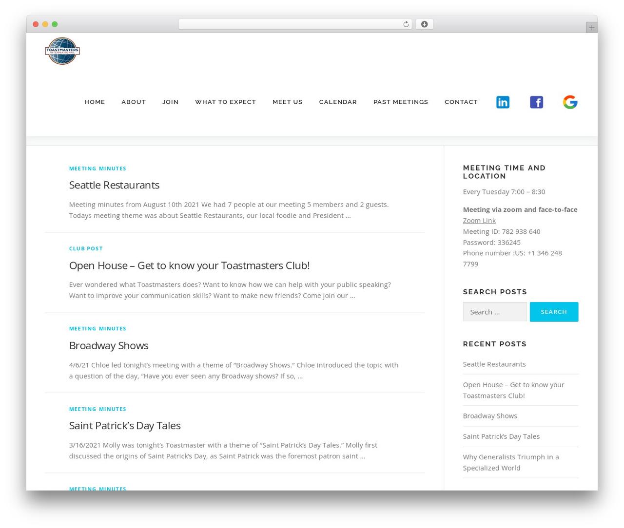 OnePress WordPress template - chamberclub540.com
