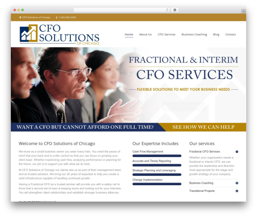The7 business WordPress theme - cfosolutionschicago.com