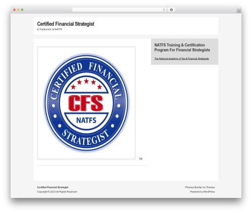 WordPress website template Builder - certifiedfinancialstrategist.com