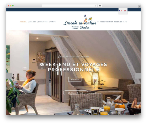 WordPress website template Stockholm - chambre-hote-chartres.com