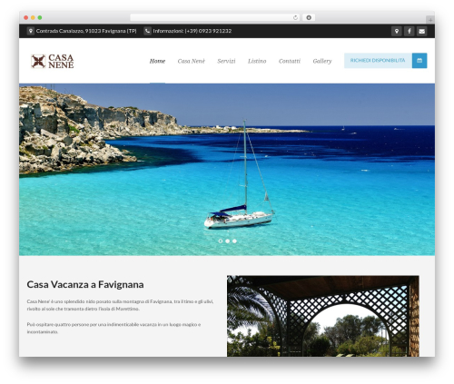 WordPress website template Takamado Progression - casanenefavignana.it