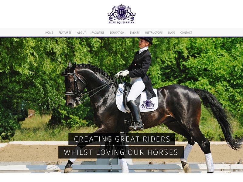 WP Pure Equestrian WordPress news theme