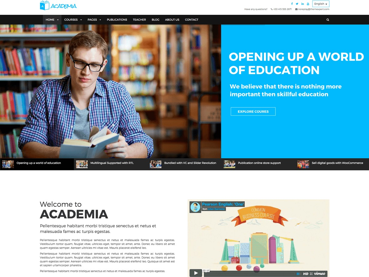 Academia Child WP template